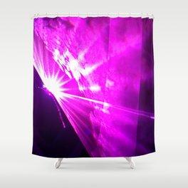 Pink laser Shower Curtain
