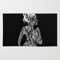 maori Area & Throw Rugs featuring Opposite Maori by SarinneG