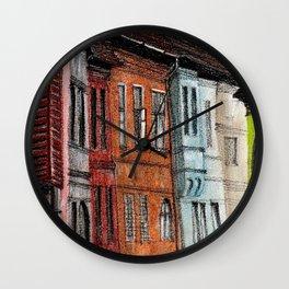 Old Town Street Wall Clock