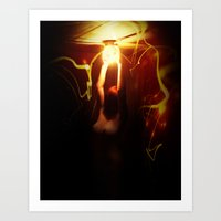 firefly Art Prints featuring Firefly by Jason Byron Nelson