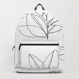 One line plant illustration - Dany Backpack