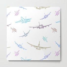 Pastel Airplanes Metal Print