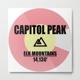 Capitol Peak Metal Print