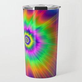 Tie Dye Fireball Travel Mug