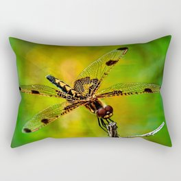 Gold Heart Dragonfly ~ Ginkelmier Inspired Rectangular Pillow