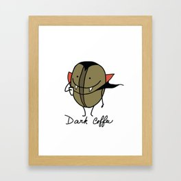 Dark coffee Framed Art Print