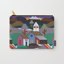 Andean Village Patchwork Tapestry Kilim Carry-All Pouch