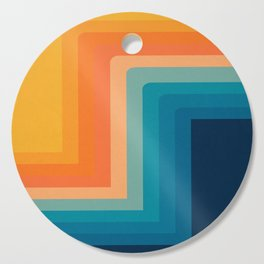 Retro 70s Color Lines Cutting Board