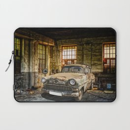 Old Car in a Garage Laptop Sleeve