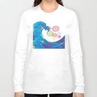 hokusai Long Sleeve T-shirts featuring Hokusai Rainbow & Fireworks  by FACTORIE