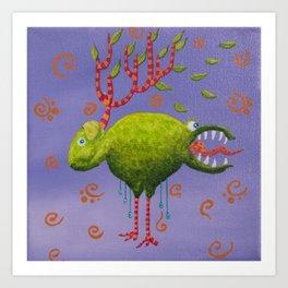 the deer sheep Art Print