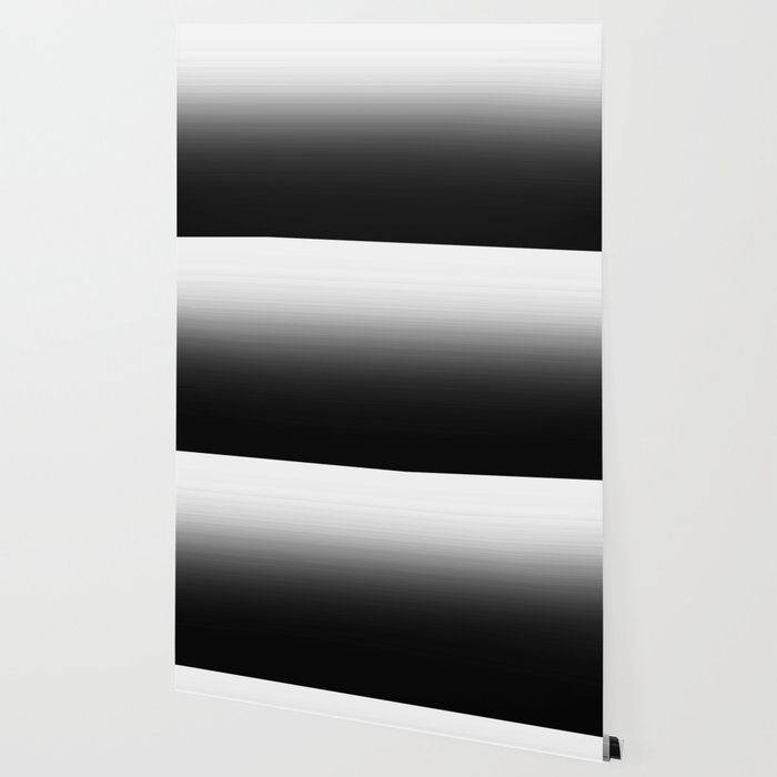 Black White Ombre Gradient Wallpaper