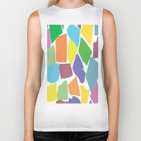 the strokes Biker Tanks featuring Brush Strokes by Rosie Brown