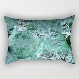 Monkey Life in the Green Bush of Ghosts Rectangular Pillow