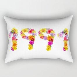 All Color Flower 1991 Rectangular Pillow