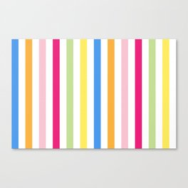 Neon Stripes Canvas Print