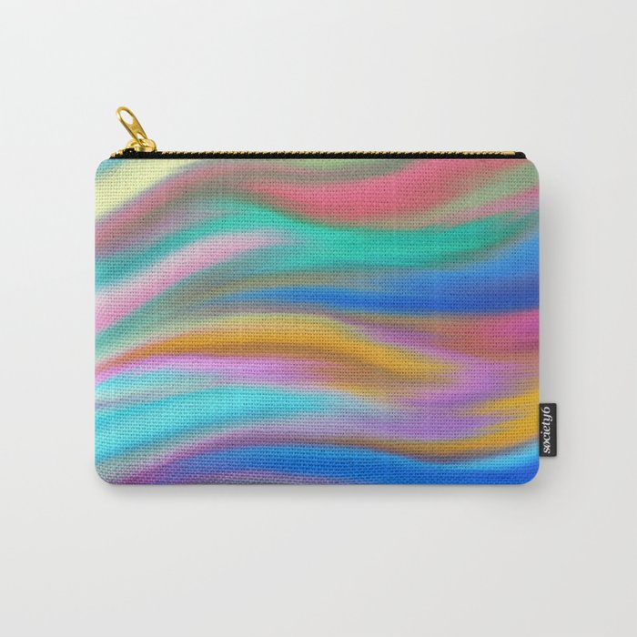 Digital painted texture, silk, liquid print Carry-All Pouch