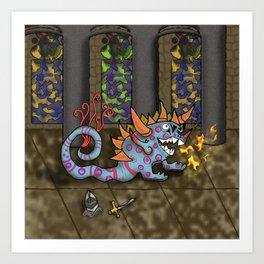 The Doodlethwumpus Beastie Art Print