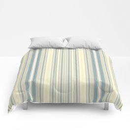 Seafoam Green Yellow Stripes Comforters