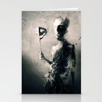 mask Stationery Cards featuring Mask by Jarek Kubicki