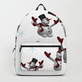 Snowmen and Snowflakes Backpack