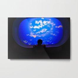 boy aquarium Metal Print