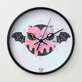 Batty Donut Wall Clock