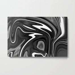 SIXTIES - BLACK Metal Print
