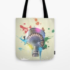 Sydney Tower Abstract Tote Bag
