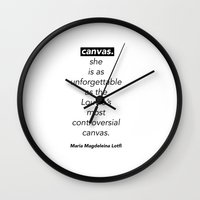"poem Wall Clocks featuring ""CANVAS"" - POEM by Maria Magdeleina"