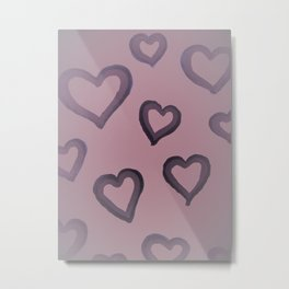 Heart Glow in Rose Metal Print