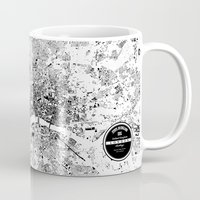 london map Mugs featuring LONDON MAP by Maps Factory