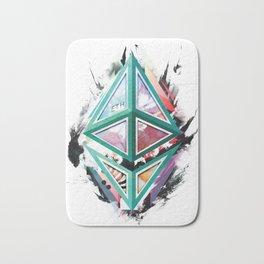 Ethereum Logo Abstract 01 Bath Mat