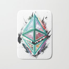 Ethereum Logo Abstract 01 Bath Mat