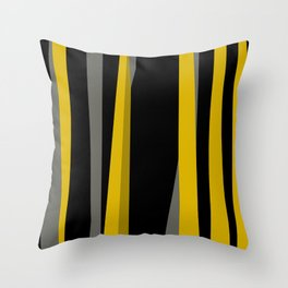 yellow gray and black Throw Pillow