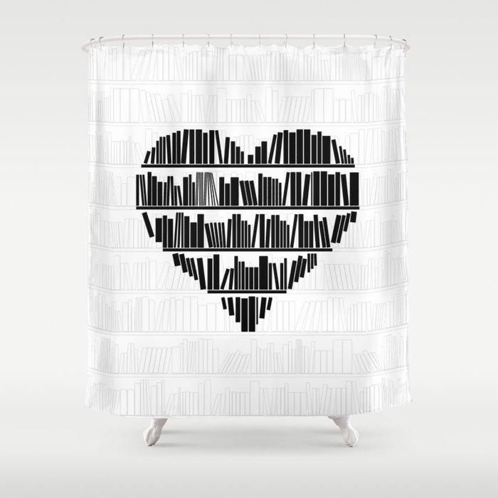 Book Lover II Shower Curtain