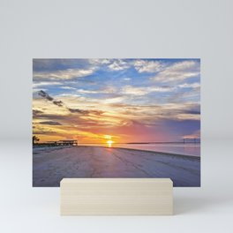 Beach at Jekyll Island Sunset Mini Art Print