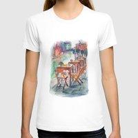 street T-shirts featuring Street by Anastasia Tayurskaya