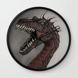 Big brown dragon Wall Clock