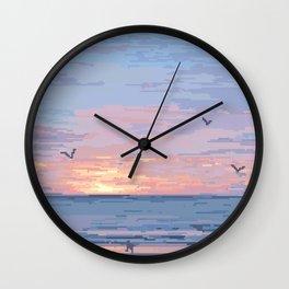 Seagull Sunrise Wall Clock