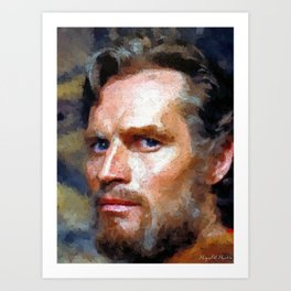 Hollywood - Charlton Heston Art Print