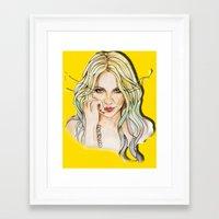 minaj Framed Art Prints featuring BRITNEY YELLOWNEY by CARLOS CASANOVA