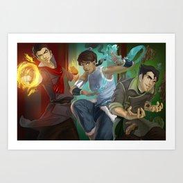 The Fabulous Fire Ferrets! Art Print