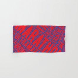 The Marathon - purple background Hand & Bath Towel