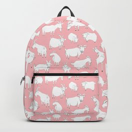 Goats Playing – Pink Backpack