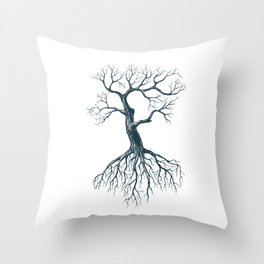 Tree without leaves Throw Pillow