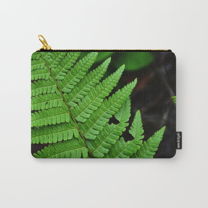 Bright Green Fern in the Forest Carry-All Pouch