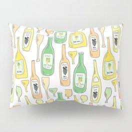 Light White. Wine proverb & pattern Pillow Sham