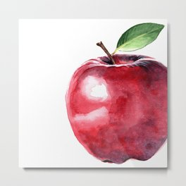 Fall Harvest. Apple. Watercolor painting Metal Print