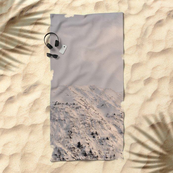 Turnagain Arm Mountain Beach Towel
